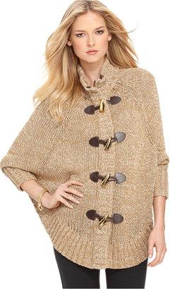 MICHAEL Michael Kors Sweater, Toggle Closure Cape Cardigan