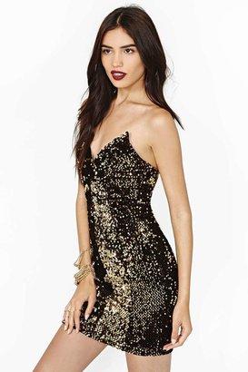 Nasty Gal Golden Glow Sequin Dress