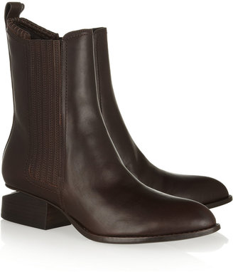 Alexander Wang Anouck cutout-heel leather ankle boots