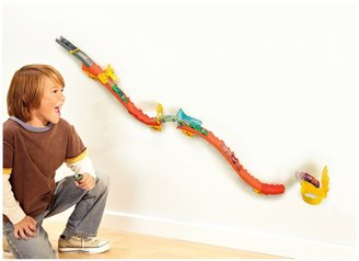 Hot Wheels Wall Tracks Flame Drop Track Set