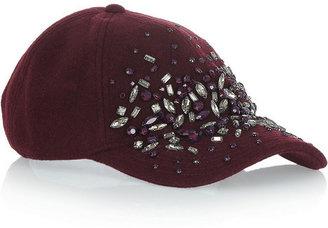 J.Crew Embellished wool-blend felt baseball cap