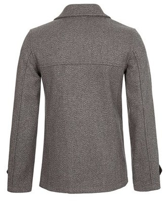 Topman Skinny Fit Double Breasted Peacoat
