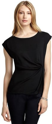 Brooks Brothers Sleeveless Wrap Silk Blouse