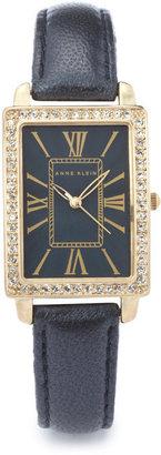 Anne Klein Modern Leather Strap Watch