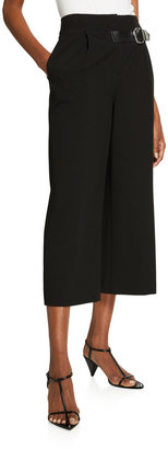 Alice + Olivia Adelina Tab-Belt Pleated Culottes