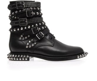 Saint Laurent Rangers studded leather ankle boots