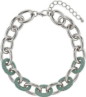 Topshop Premium Chain Rhinestone Pave Collar