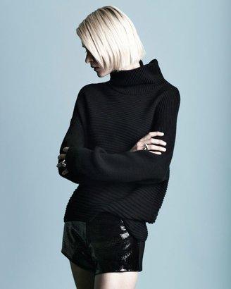 Helmut Lang Turtleneck Fabric Blend Sweater