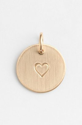 Women's Nashelle Heart Stamp Charm $35 thestylecure.com