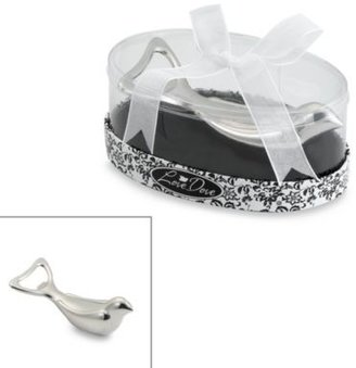 Kate Aspen Love Dove Silver Chrome Bottle Opener in Oval Showcase Giftbox