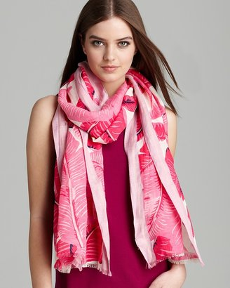 Juicy Couture Palm Printed Oblong Scarf