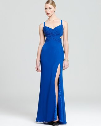 Faviana Gown - Ruched Bodice Open Back
