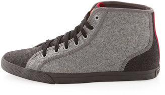Ben Sherman Felt Mid-Top Sneakers, Charcoal