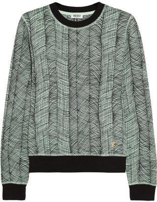 Kenzo Printed cotton-jersey sweatshirt