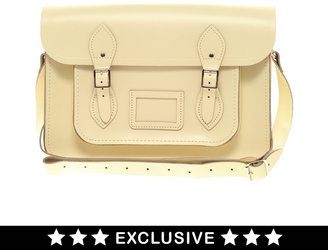 "Cambridge Silversmiths Satchel Company Exclusive 14"" Leather Satchel"