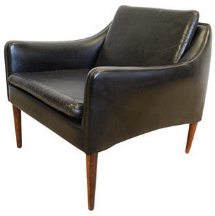 Olsen 2-b-Modern Danish Leather Chair by Hans
