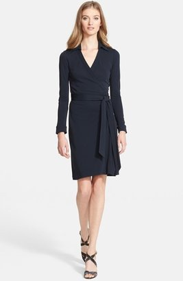 Women's Diane Von Furstenberg 'New Jeanne Two' Jersey Wrap Dress $368 thestylecure.com