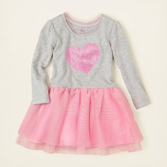 Children's Place Turtleneck shimmer tutu dress