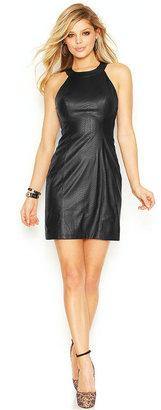 GUESS Python Faux-Leather Dress