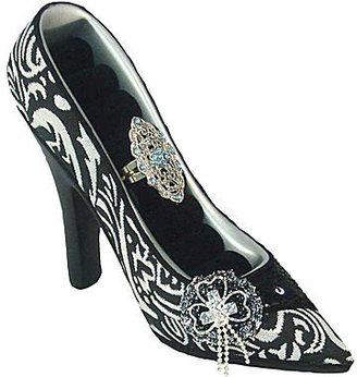 JCPenney Asstd National Brand Black & White Vintage Shoe Ring Holder
