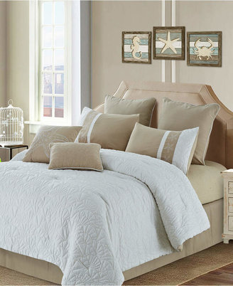 Colette Reversible 8-Pc. Quilted Queen Comforter Set