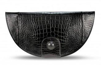 Bodhi pristine (PR Black Hand Painted Alligator Clutch Bag