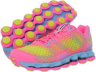 Reebok DMXSky Run (Pink Zing/Solar Green/Watery Blue/White) - Footwear