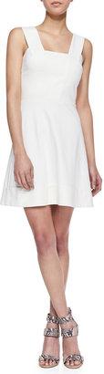 Amanda Uprichard Loves Cusp Dixie Fit-And-Flare Mini Dress, Ivory
