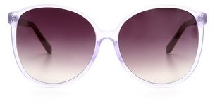 Linda Farrow Luxe Round Glam Snake Sunglasses