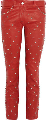 Isabel Marant Duncan embellished cropped leather pants