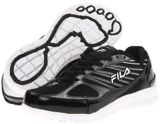 Fila 2A Advanced (Black/White/Metallic Silver) - Footwear
