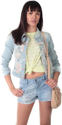 Vero Moda Short Floral Jean Jacket