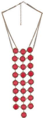 Wallis Red Circle Necklace