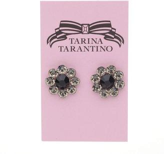 "Tarina Tarantino Crystal Flower - .5"" Classic Flower Post Earrings, Disco Night 1 ea"