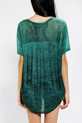 Sparkle & Fade Oversized Burnout Tunic Top