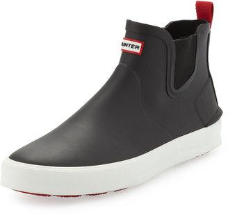 Hunter Daleton Short Rubber Boot, Black