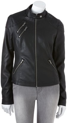 Sebby faux-leather motorcycle jacket