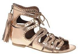 Sophia Kokosalaki Kore By Sophia Kokosolaki Leather Flat Sandals - Bronze