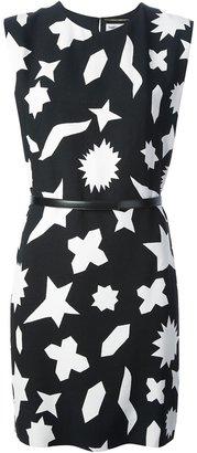 Saint Laurent shapes print dress