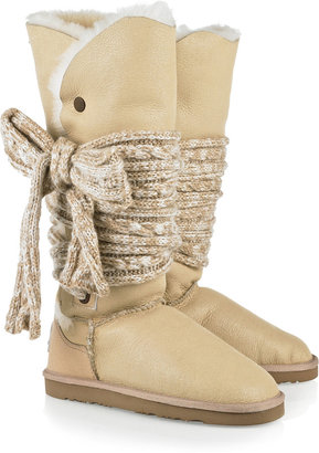 Australia Luxe Collective Mars tie-embellished sheepskin boots