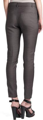 Jil Sander Rocky Bow-Belt Pants, Gray