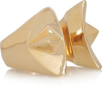 Dominic Jones Female 23-karat gold-plated ring