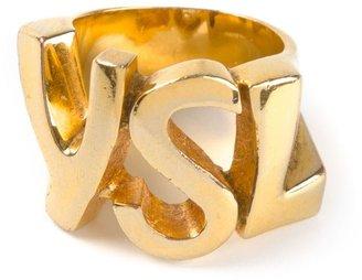 Yves Saint Laurent Vintage cut out logo ring