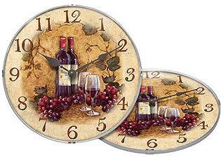 Infinity Instruments Clock, Vin Rouge