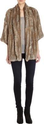 Barneys New York Three-Quarter-Sleeve Fur Coat