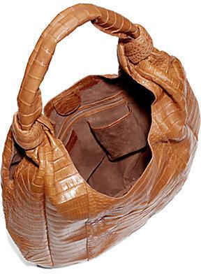 Nancy Gonzalez Crocodile Knot Hobo Bag