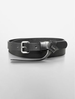 Calvin Klein Faux Knot Detail Leather Belt