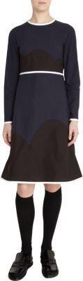 Marni Scalloped Colorblock Dress