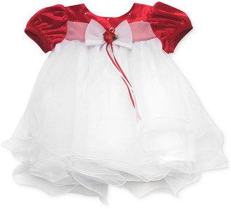Rare Editions Baby Dress, Baby Girls Red Velvet Holiday Dress