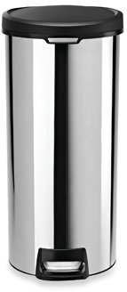 Simplehuman 30-Liter Round Stainless Steel Step Trash Can